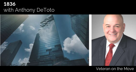 Anthony DeToto, Veteran on the Move