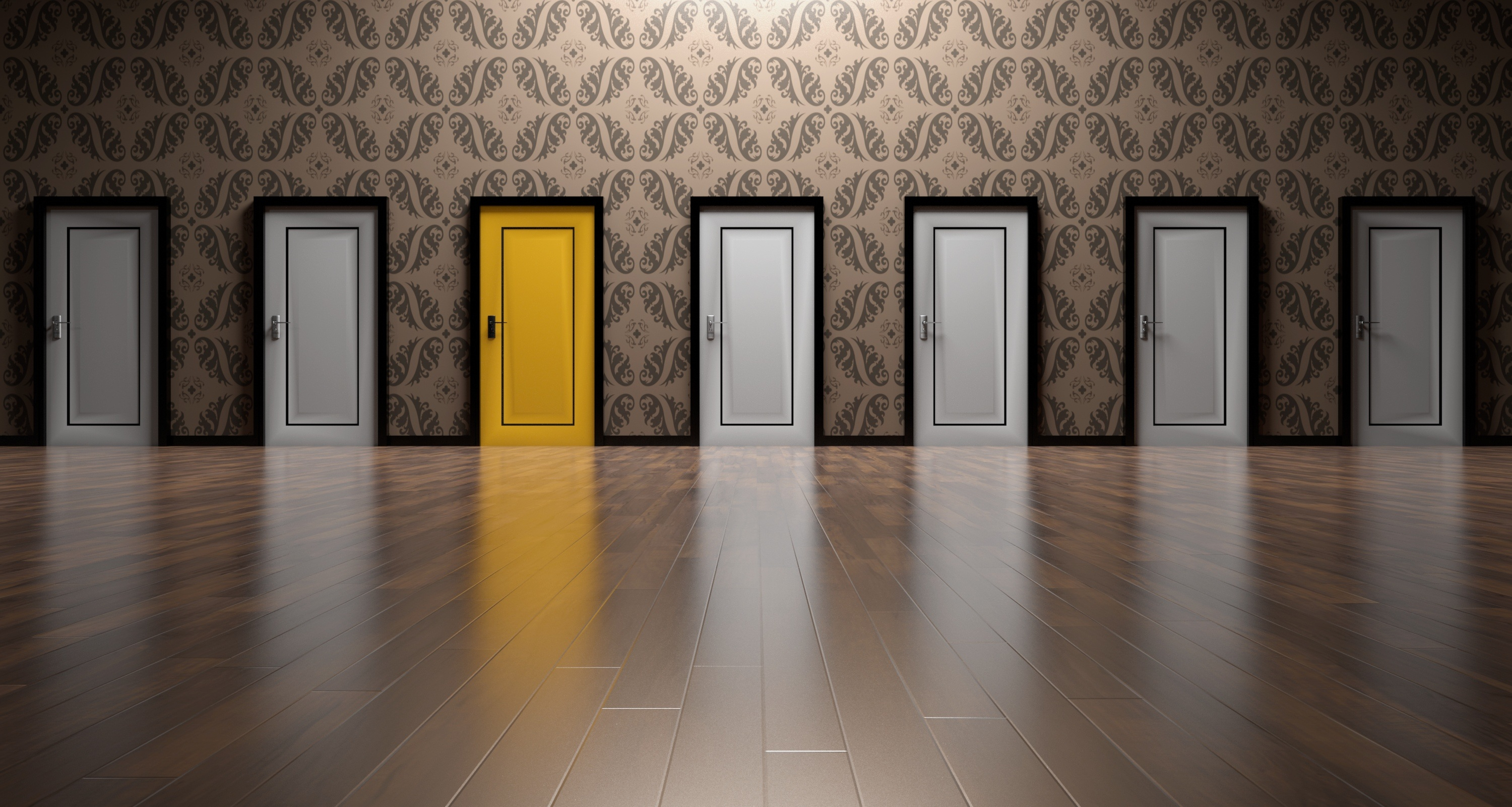 Canva - Paisley Background Door Choices